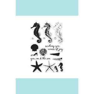 Hero Arts Colour Layering Seahorse Stamp & Die Bundle
