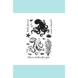 Hero Arts Color Layering Octopus Stamp And Frame Cuts Bundle