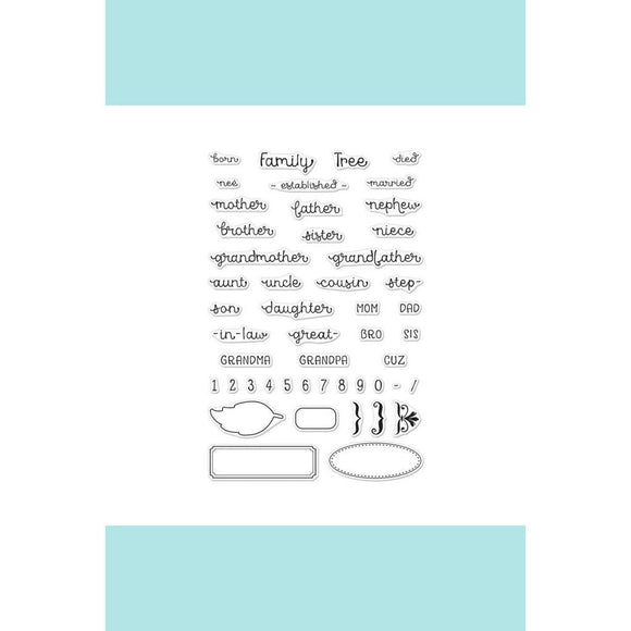 Hero Arts -  Family Tree Words Stamp