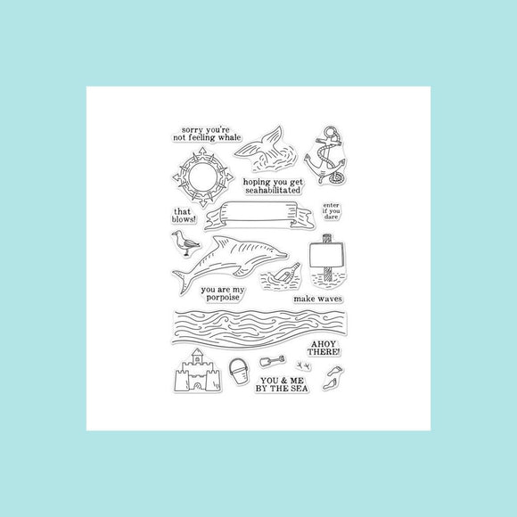 Hero Arts -  You and Me By The Sea Stamp