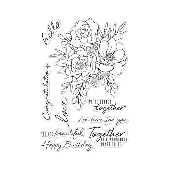 Hero Arts - Togetherness Flower Bouquet Stamps and Dies