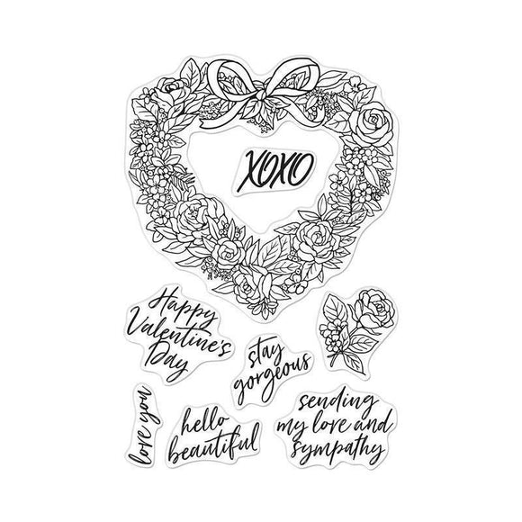Hero Arts - Floral Heart Wreath Stamps and Dies