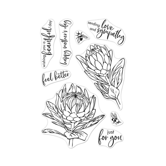 Hero Arts - Protea Flowers Stamps