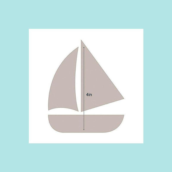 Couture Creations Quilting Essentials Applique Die - Sail Boat
