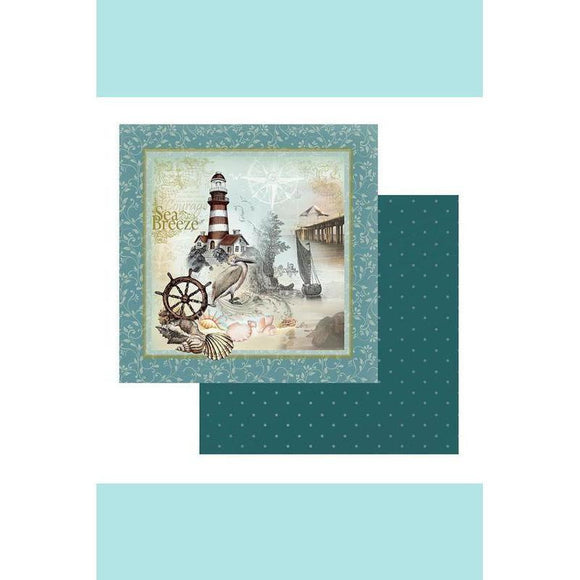 Couture Creations Sea Breeze Collection - Patterned Paper -  On the Rocks