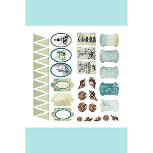 Couture Creations Sea Breeze Collection Adhesive Chipboard
