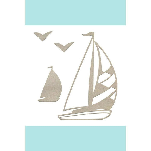 Couture Creations Chipboard - Boys - Sailboat Set (4pc) Chipboard
