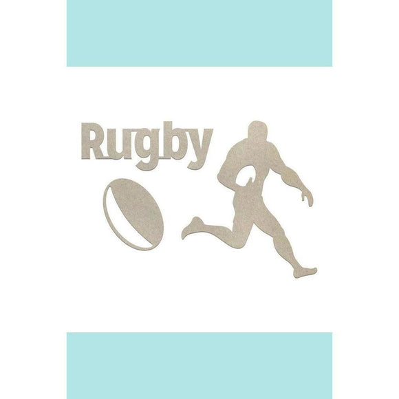 Couture Creations Chipboard - Boys - Rugby (3pc)