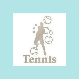 Couture Creations - Chipboard - Boys - Tennis Set   (8pc)