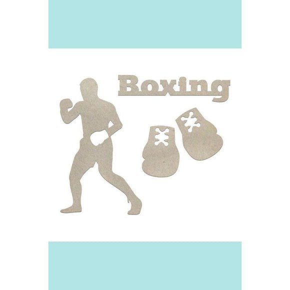 Couture Creations Chipboard - Boys - Boxing Set (4pc) Chipboard