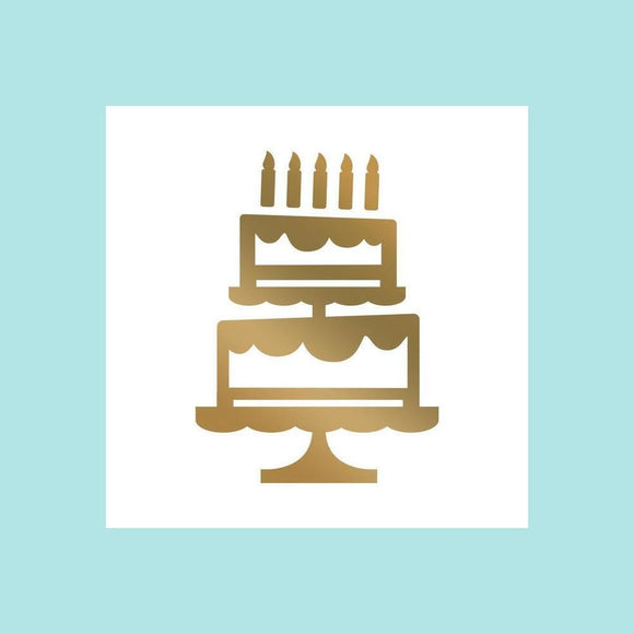 Couture Creations - Mini Hotfoil Stamp Set - Abracadabra - Tiered Cake  (1pc)