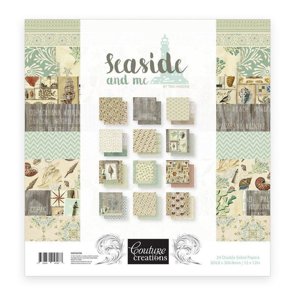 Couture Creations Seaside & Me Paper Pad 12 x 12 in