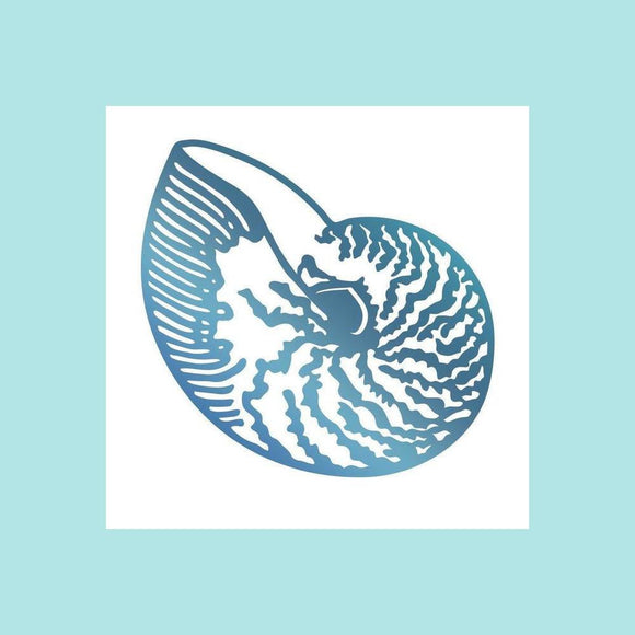Couture Creations Hotfoil Stamp - Seaside & Me Collection - Atlantic Shell