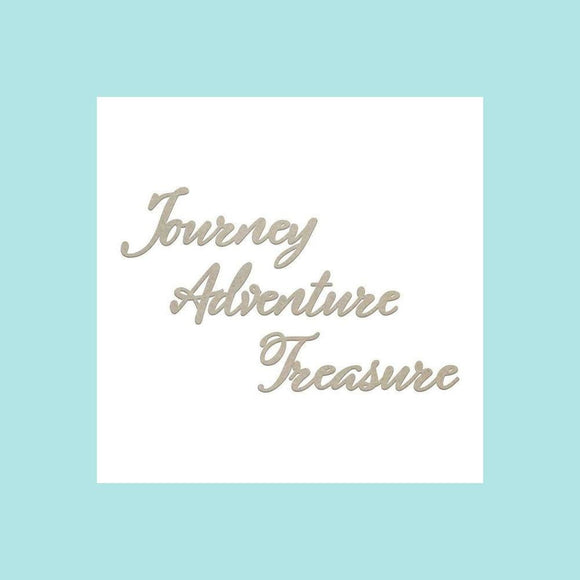 Couture Creations Ultimate Crafts - Seaside & Me - Journey, Adventure, Treasure Set - Chipboard