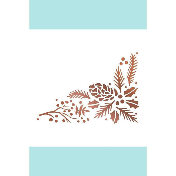 Couture Creations - Hotfoil Stamp - Highland Christmas - Pinecone Corner