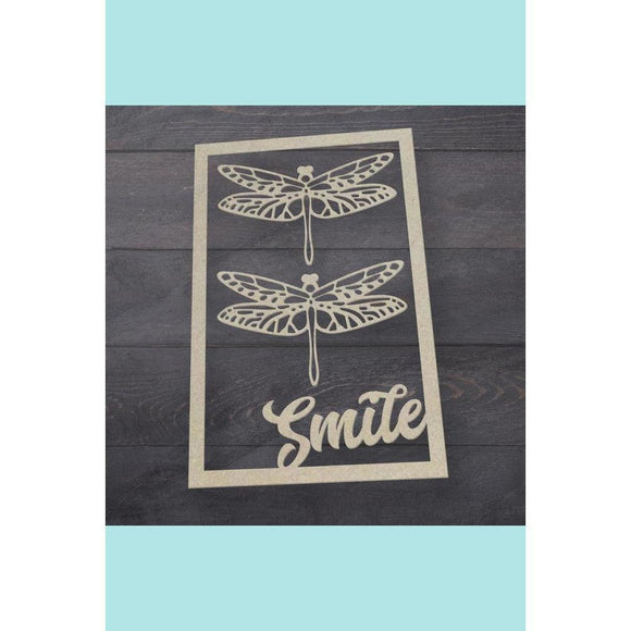 Couture Creations - Butterfly Garden - Chipboard - Smiling Frame Set (3pc)