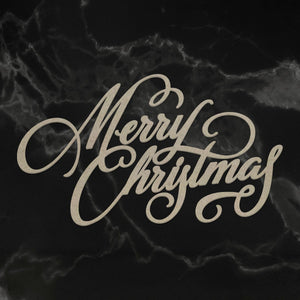Couture Creations - Chipboard - Naughty or Nice Christmas Collection - Merry Christmas Sentiment