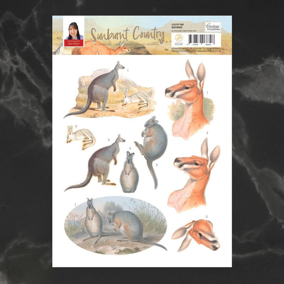 Couture Creations - Sunburnt Country - Decoupage - A4 sheet - Boomer P*