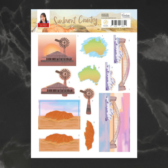 Couture Creations - Sunburnt Country - Decoupage - A4 sheet - Wonders P*