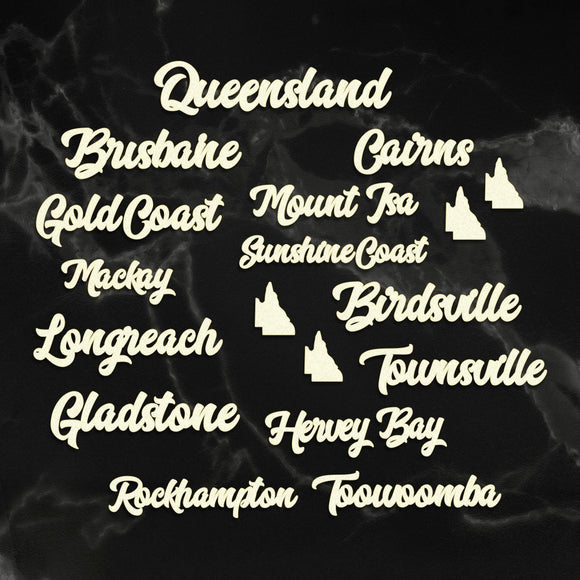 Couture Creations - Sunburnt Country - Coasterboard - Queensland Cities Sentiment P*