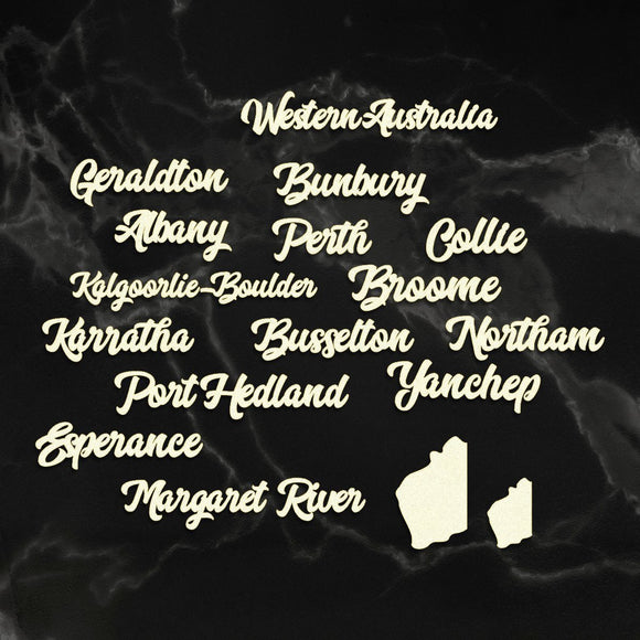 Couture Creations - Sunburnt Country - Coasterboard - Western Australia Cities Sentiment P*