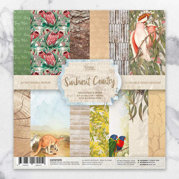 Couture Creations - Sunburnt Country - Paper Pad - 6.5 x 6.5 inch P*