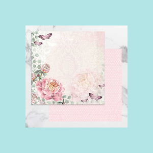 Couture Creations - Peaceful Peonies - 12 x 12 in Double Sided Desinger Paper - Pkt/5
