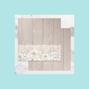 Gray Couture Creations - Peaceful Peonies - 12 x 12 in Double Sided Desinger Paper - Pkt/5