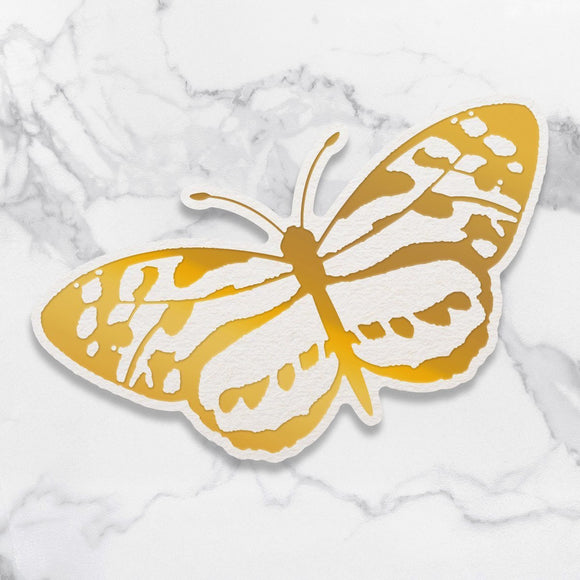 Couture Creations - Peaceful Peonies - Cut Foil & Emboss Die - Spotted Butterfly