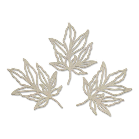 Couture Creations - Peaceful Peonies - Chipboard - Leafy Branches (3pc)