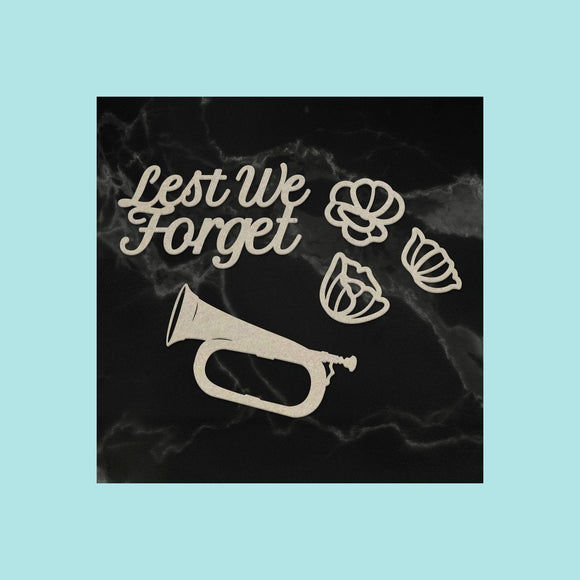 Couture Creations - Lest We Forget - Chipboard - Lest We Forget Set (5pc)