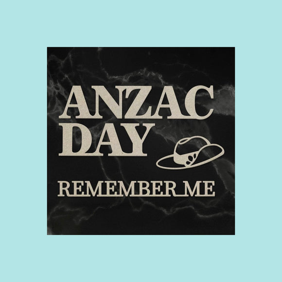Couture Creations - Lest We Forget - Chipboard - Anzac Set (4pc)