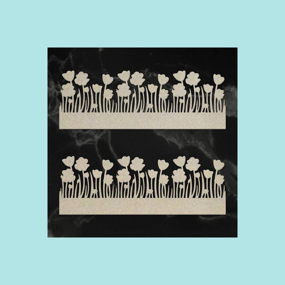 Couture Creations - Lest We Forget - Chipboard - Poppy Borders Set (2pc)
