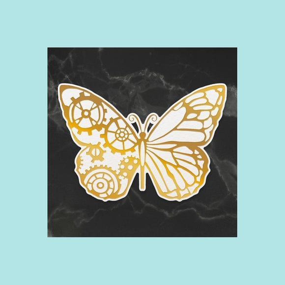 Couture Creations - Steampunk Dreams - Cut & Create Die - Steampunk Butterfly