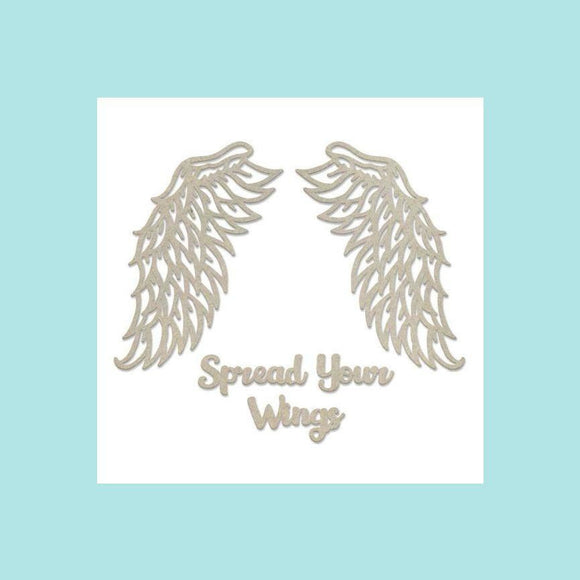 Couture Creations - Steampunk Dreams - Chipboard - Spread Your Wings