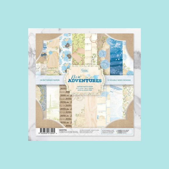 Couture Creations - New Adventures - Paper Pad 6.5 x6.5 inch