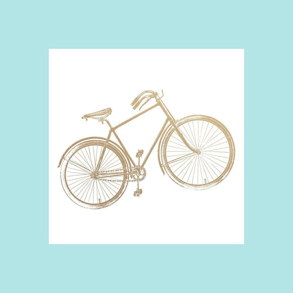 Couture Creations - New Adventures - Mini Stamp - Vintage Bicycle
