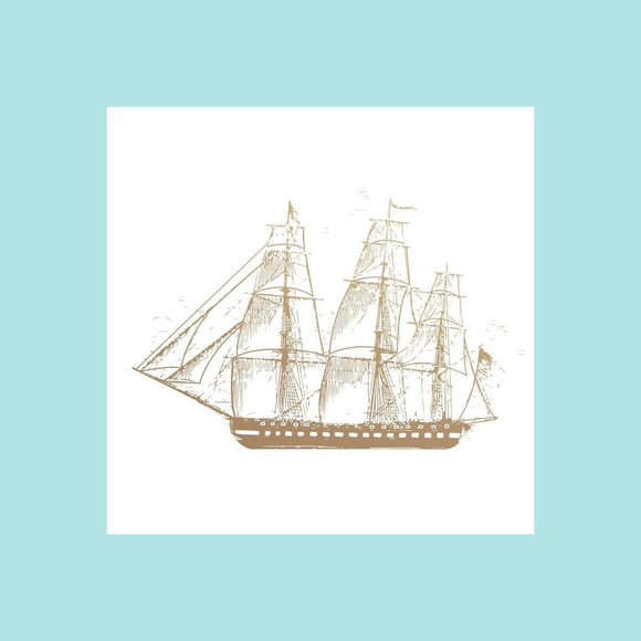 Couture Creations - New Adventures - Mini Stamp - Sailboat