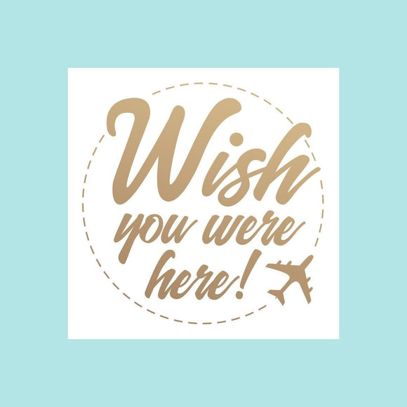 Couture Creations - New Adventures - Mini Stamp - Wish You Were Here
