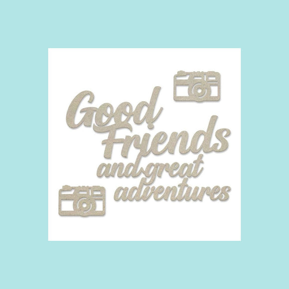 Couture Creations - New Adventures - Chipboard Set - Good Friends