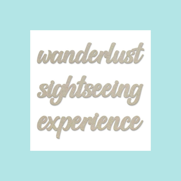 Couture Creations - New Adventures - Chipboard Set - Wanderlust