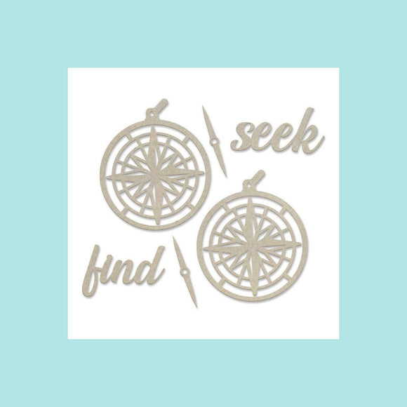 Couture Creations - New Adventures - Chipboard Set - Seek and Find