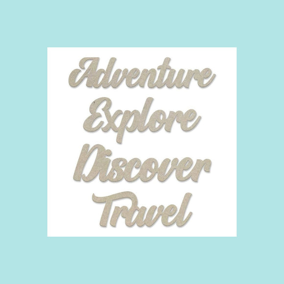 Couture Creations - New Adventures - Chipboard Set - Adventure