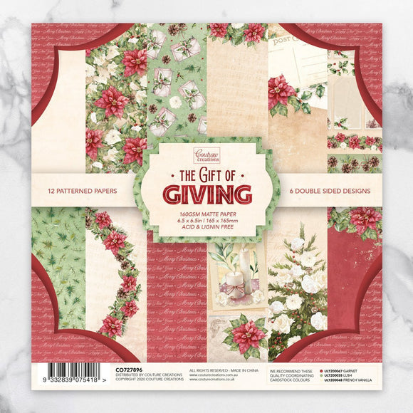 Couture Creations - The Gift of Giving Collection - Paper Pad - 6.5
