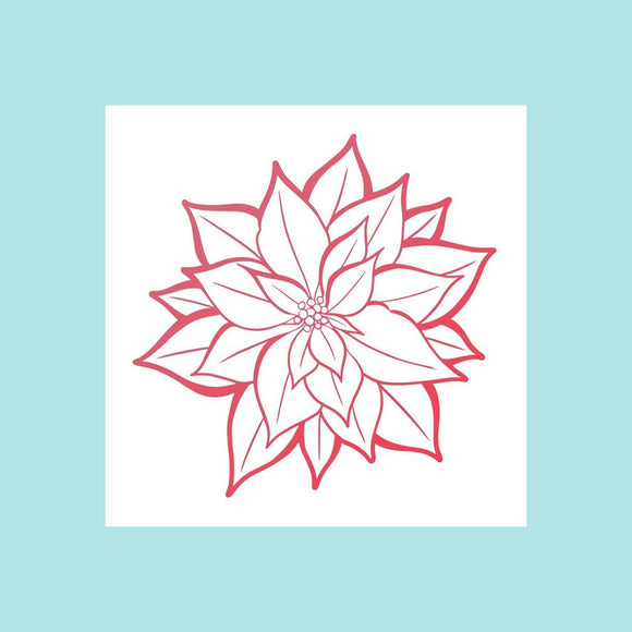 Couture Creations - The Gift of Giving Collection - Mini Stamp - Poinsettia Bloom