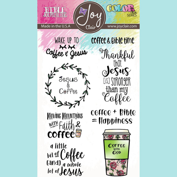 Joy Clair - Coffee and Jesus | Bible Journaling Stamp Set
