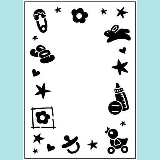 Craft Too - Embossing Folder - Baby Frame