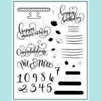 Gina K Designs - Emily Loggans Cake Toppers Stamp Set