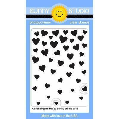 Sunny Studio Stamps - Cascading Hearts Stamps
