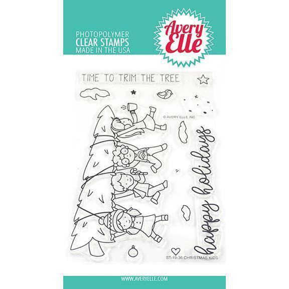 Avery Elle - Christmas Kids Clear Stamps and Dies